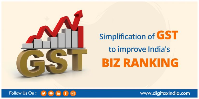 Simplification of GST to improve India's BIZ Ranking