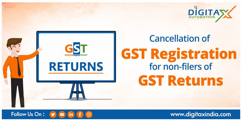 Cancellation of GST registration for non-filers of GST Returns