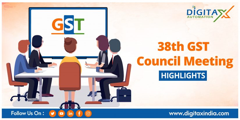 38th GST Council Meeting Highlights