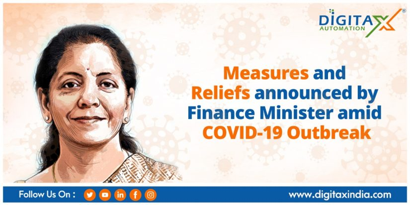 Measures and Reliefs announced by Finance Minister amid COVID-19 Outbreak